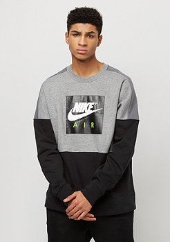 NIKE Air Fleece carbon heather/dark grey/black/white