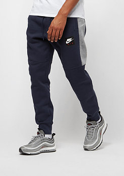 NIKE Air Fleece Jogger obsidian/carbon heather/white