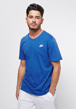 NIKE Club Tee Embrd royal blue/white