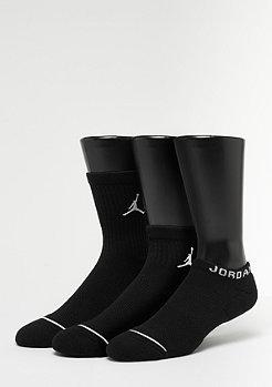 NIKE Jordan Waterfall 3 Pairs black/black/black
