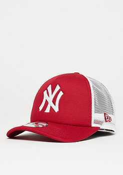 New Era 9Forty Clean Aframe MLB New York Yankees scarlet/white