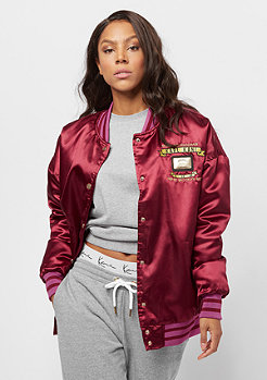 Karl Kani Block College Jacket bordeaux/orange