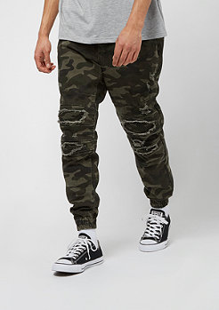 Cayler & Sons ALLDD Paneled Inverted Biker Jogger Pants woodland camo