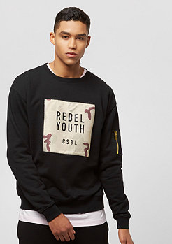 Cayler & Sons Rebel Youth Crewneck black/desert camo