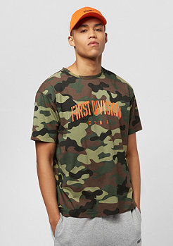 Cayler & Sons CSBL Patched Oversized Tee woodland camo/orange