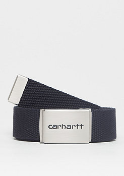 Carhartt WIP Clip Belt Chrome dark navy
