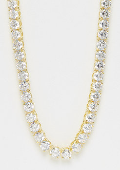 King Ice Single Row CZ Pharaoh gold