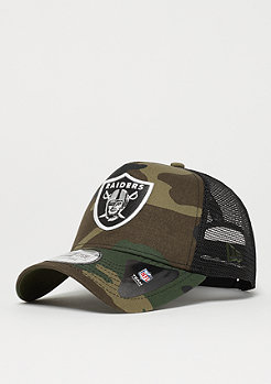 New Era 9Forty NFL Oakland Raiders Camo Trucker woodland camo
