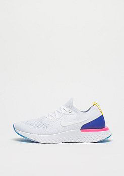NIKE Epic React Flyknit white/white-racer blue-pink blast