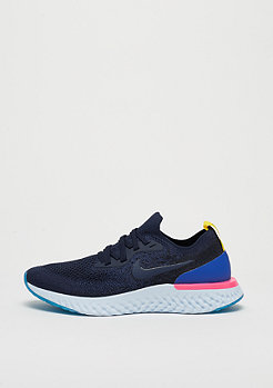 NIKE Wmns Epic React Flyknit college navy/college navy-racer blue