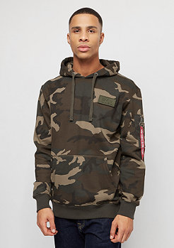 Alpha Industries Red Stripe woodland camo