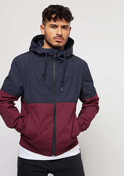 Flatbush Block Cotton Blouson navy/bordeaux