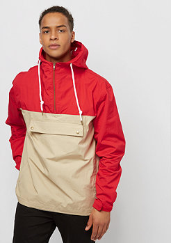 Flatbush Block Windbreaker red/sand