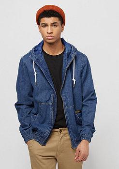 Flatbush Blouson à capuche en denim bleu moyen