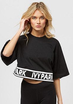IVY PARK Logo Tape Boxy Crop Crew black