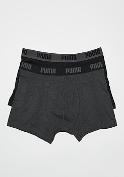 Puma Basic Boxer 2P dark grey melange/black
