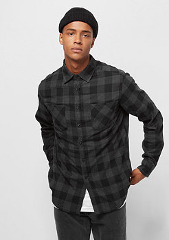 Urban Classics Checked Flanell black/charcoal