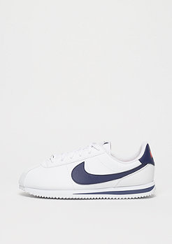 NIKE Cortez Basic SL white/neutral indigo-habanero red