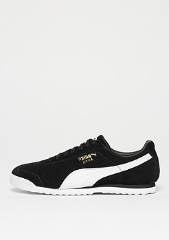 Puma Roma Suede puma black/puma white/puma team gold/amazon green