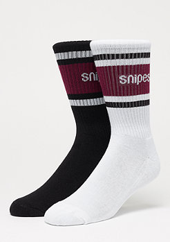 SNIPES Striped Crew black/white