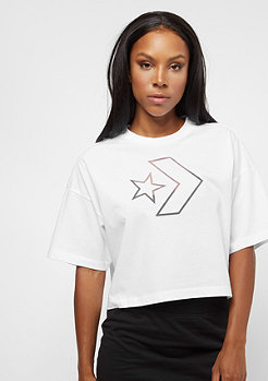 Converse Burnout Star Chevron Cropped Boxy white