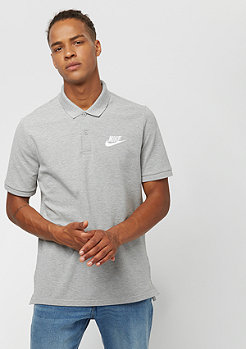 NIKE Sportswear Polo dk grey heather/white