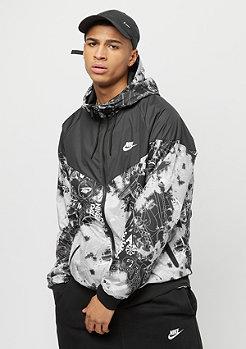 NIKE Sportswear Windrunner Tie Dye wolf grey/black/white
