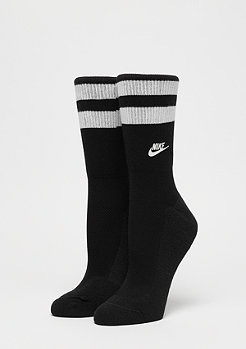 NIKE Fold Over Cuff Crew black/white