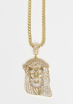 King Ice CZ Jesus Piece gold