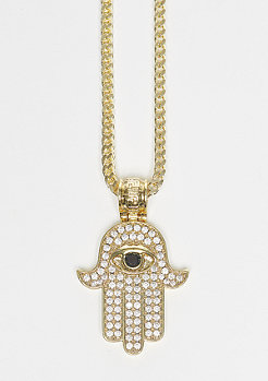 King Ice Hamsa gold
