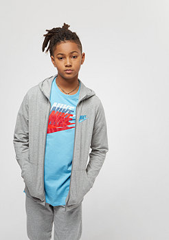 NIKE Junior NSW Hoodie dark grey heather/equator blue