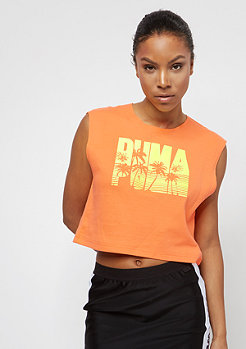 Puma Fenty Sleeveless Crop orange pop