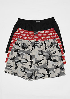 SNIPES 3er Boxer Cuffed camo/multi