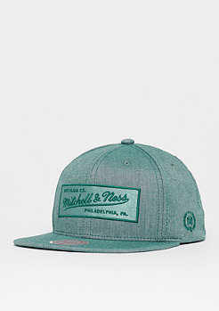 Mitchell & Ness Logo Box Chambray olive