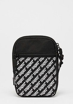 SNIPES AOP Cross Bag black/white