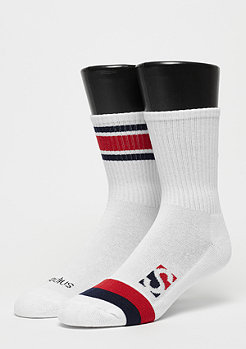 SNIPES Striped Crew Socks white/red/navy