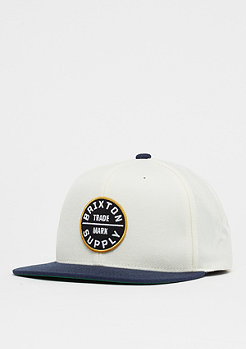 Brixton Oath III Snap off white/navy/gold