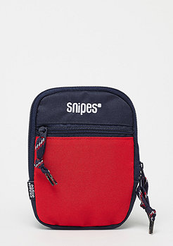 SNIPES Block Cross Bag red/navy