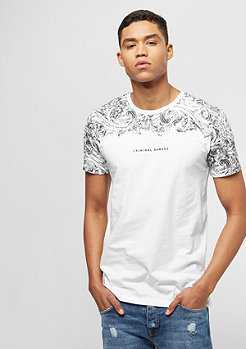 Criminal Damage Fresco Tee white/black