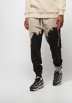 Criminal Damage Bleach Jogger black/tan