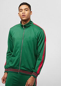 Criminal Damage Track Top Carnaby olive/red