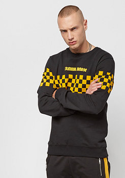 Criminal Damage Sweat Chequerboard black/yellow