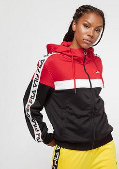 Fila FILA Urban Line Teela Hooded Track Jacket TrueR-BriWhi-Black