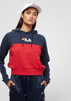 Fila FILA Urban Line Wenda Hooded Sweat BriWhi-TrueRed-Black Iris