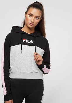 Fila FILA Urban Line Wenda Hooded Sweat Black-LightGreyMel-Coral