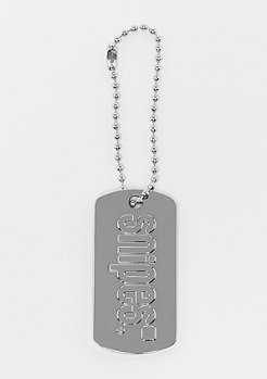 SNIPES Dog Tag Keychain silver