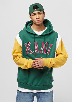 Karl Kani College Retro Hoodie green/yellow/white