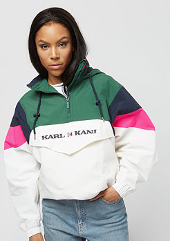 Karl Kani Block Windbreaker green/white/pink