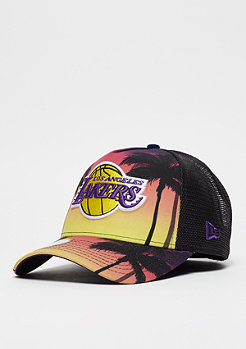 New Era NBA 9Forty Los Angeles Lakers Coastal Heat pink/yelllow/mult