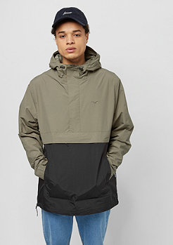 Cleptomanicx City Hooded Summer dusty olive/noir